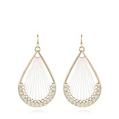 The Collection - Pink thread wrap teardrop earrings