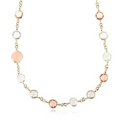 The Collection - Gold plated faceted stone necklace