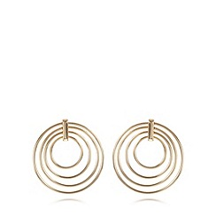 The Collection - Gold plated concentric earrings