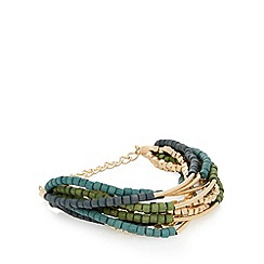 The Collection - Blue multi row beaded bracelet