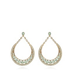 The Collection - Gold plated stone crescent earrings