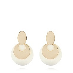The Collection - Gold plated shell drop earrings