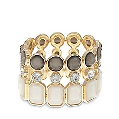 The Collection - Cream stone cluster bracelet