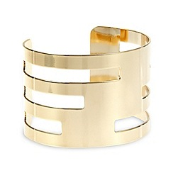 The Collection - Gold plated cut out cuff bracelet