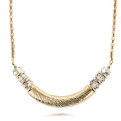 The Collection - Gold plated textured bar necklace