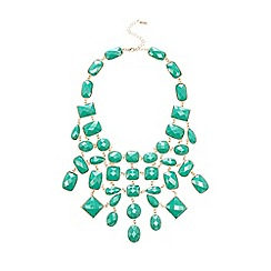 The Collection - Blue faceted gem necklace