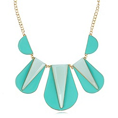 The Collection - Turquoise enamel bib necklace