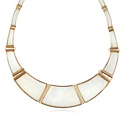 The Collection - Gold plated shell torq necklace