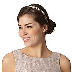 No. 1 Jenny Packham - Designer silver open set gem headband