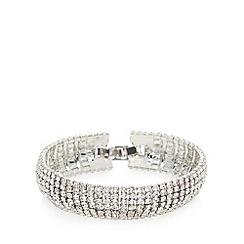 No. 1 Jenny Packham - Designer silver plated stone embellished bracelet