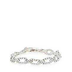 No. 1 Jenny Packham - Designer silver plated faceted stone bracelet
