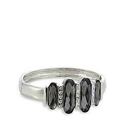 No. 1 Jenny Packham - Silver plated statement stone bracelet