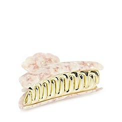 The Collection - Cream mosaic metal hair grip