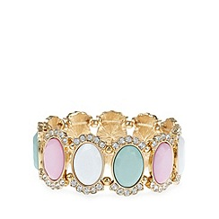 Floozie by Frost French - Pink faceted stone bracelet