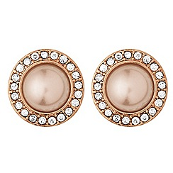 Dyrberg Kern - Rose gold plated stainless steel earposts