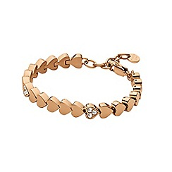 Dyrberg Kern - Rose gold plated stainless steel bracelet