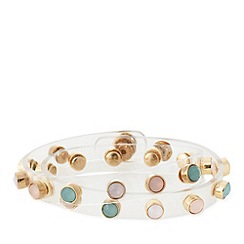 Floozie by Frost French - Plastic studded wrap bracelet