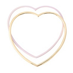 Floozie by Frost French - Set of two heart bangles