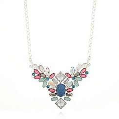 Floozie by Frost French - Silver plated mixed stone pendant necklace
