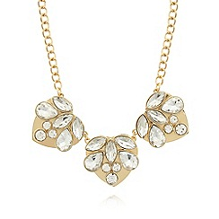 Floozie by Frost French - Gold plated triple heart necklace