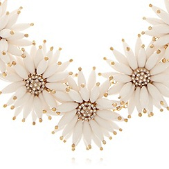Floozie by Frost French - White clustered daisy necklace