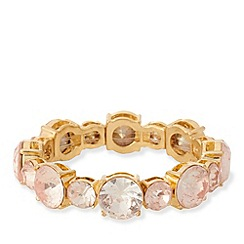 The Collection - Pink large stone stretch bracelet