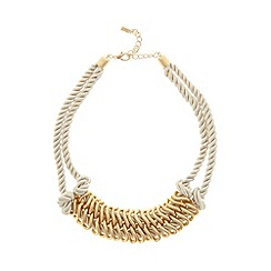 The Collection - Gold plated rope rings necklace
