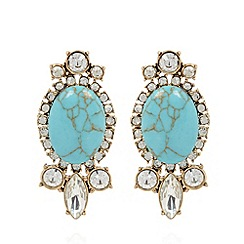 No. 1 Jenny Packham - Designer turquoise decadent stone drop earrings