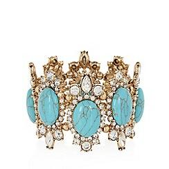 No. 1 Jenny Packham - Designer turquoise decadent stone stretch bracelet