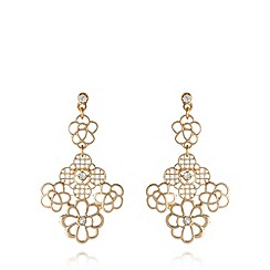 No. 1 Jenny Packham - Designer gold plated filigree drop earrings