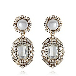No. 1 Jenny Packham - Designer gold plated stone chandelier earrings