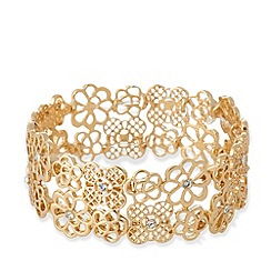 No. 1 Jenny Packham - Designer gold plated filigree bracelet