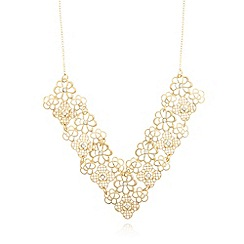 No. 1 Jenny Packham - Designer gold plated filigree V necklace