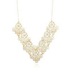 No. 1 Jenny Packham - Designer gold plated filigree V necklace