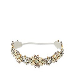 No. 1 Jenny Packham - Designer cream jewel flower headband