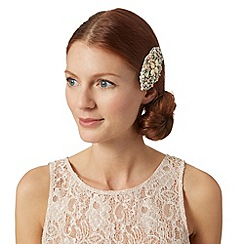 No. 1 Jenny Packham - Designer cream gem embellished hair clip