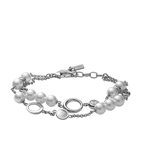 DKNY - Silver pearl +passion+ bracelet