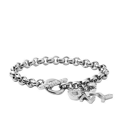 DKNY - Silver logo bauble bracelet