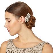 Designer silver beaded hair clip