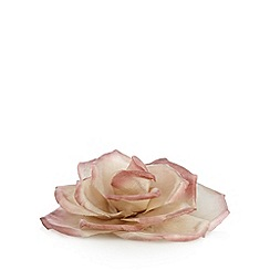 The Collection - Pink satin flower hair clip