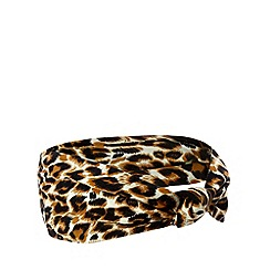 The Collection - Natural animal print hair piece