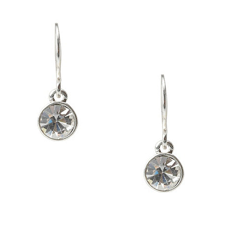 Pilgrim - Tonal grey heart drop earrings