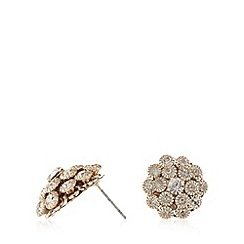 The Collection - Gold stone cluster stud earrings