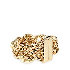 The Collection - Gold metal plait bracelet