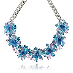 The Collection - Turquoise faceted stone cluster necklace