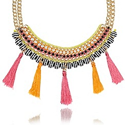 Floozie by Frost French - Pink tassel chain necklace