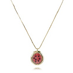 Floozie by Frost French - Gold plated watermelon pendant necklace