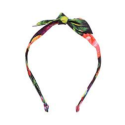 Black floral knot detail headband