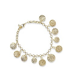 The Collection - Gold plated coin charm bracelet