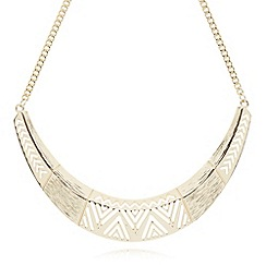 The Collection - Gold plated cutout tort necklace